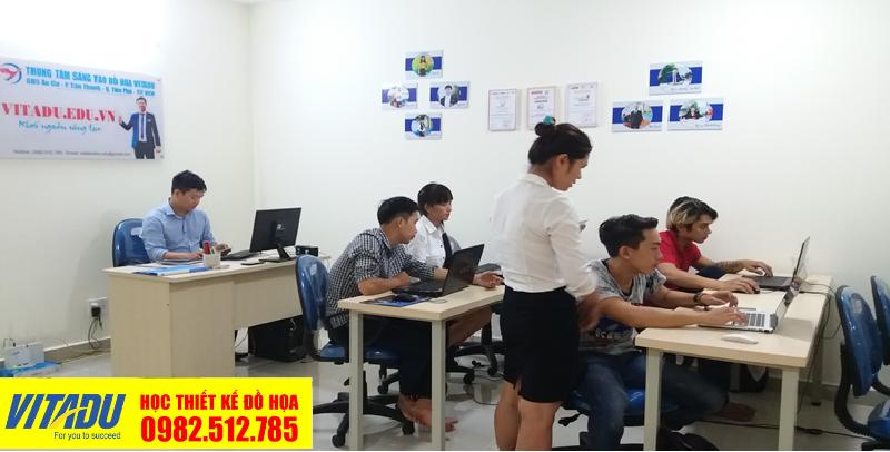 Lớp học thiết kế đồ họa tại Q. Tân Phú